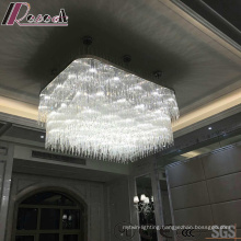 White Square Decorative Crystal pendant Lamp with Hotel Project