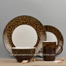 Color Glazed Ceramic Dinnerware Set