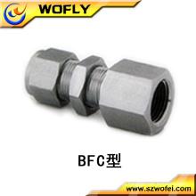Semicircular aço hexágono parafuso conector fêmea montagem de tubo para gás