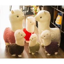 Wholesale Most Cutest Amuse Alpaca Toy, Custom mini baby /rainbow/life size/stuffed plush alpaca toy