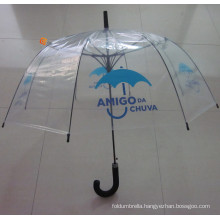 Plastic Fabric EVA J Handle Straight Pole Umbrella (YS-S001A)
