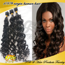 2014 News Grade 6A Deep Wave 100% Virgin Micro Loop Ring Russian Remy Hair Extensions