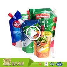 Großhandel Kunststoff Getränke Fruchtsaft Sojamilch Nachfüllbar Wiederverwendbare Gequetschte Tülle Pouch Softdrink Mit Düse