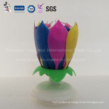 Colored Double Layer Music Blooming Candle