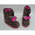 China Wholesale Indoor Slipper Shoes Kids Loepard Home Boots