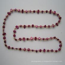 2015 Shell & Crystal ювелирные изделия, причудливые ювелирные изделия, ожерелье способа