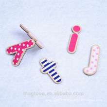 wholesale fashion letter fridge magnet wooden magnet