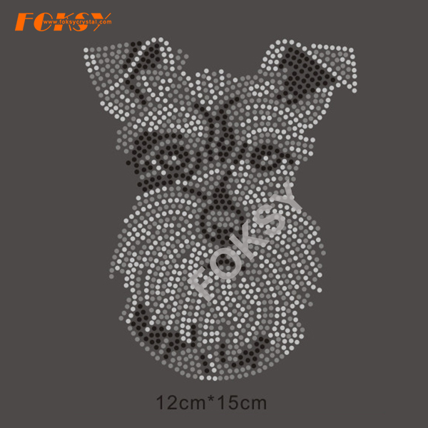 Dog Motif Hot Fix Rhinestone Iron on Transfer Designs