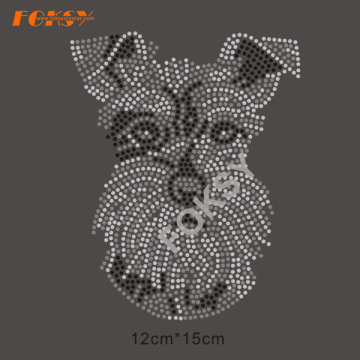 Long+Beard+Dogs+Wholesale+Rhinestone+Heat+Transfer+Designs