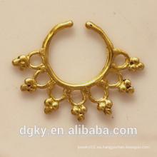 Moda de acero quirúrgico septum piercing falsa septum joyas