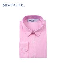 Camisas de vestir rosadas ejecutivas de manga larga para niños