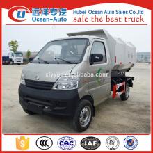 2015 Changan venta caliente mini camión de basura hidráulica