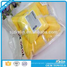 Microfiber coral fleece bath towel sets