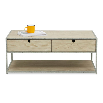Hot on Amazon Luxury Steel Wood - Mesa de centro, sala de estar