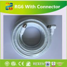 CCTV cabo de alta qualidade Rg6u com conector