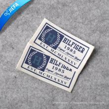 Etiqueta do logotipo de roupas de algodão com impressão personalizada