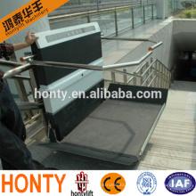 monte-escalier hydraulique intérieur ou extérieur pour fauteuils roulants inclinés pour handicapés