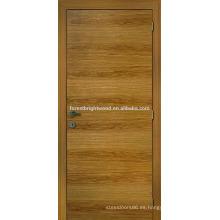 Chapeado de roble natrual puerta rasante diseño de casa