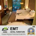 Star Hotel madera cama doble conjunto de muebles (EMT-HTB08-4)