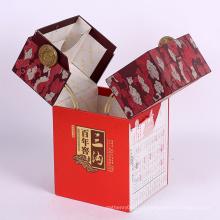 Personalizado Caixa de embalagem de papelão de presente novo de vinho de luxo