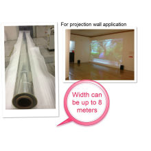 8 meters width high gloss transparent film for 3D holographic projection wall                                                                         Quality Choice