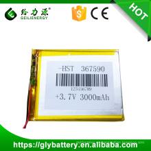 Li-polymer 367590 3000mAh Firefox Battery Yocan Unique Design Lipo Battery