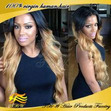 Perruques de cheveux humains de haute qualité de racines foncées de cheveux foncés