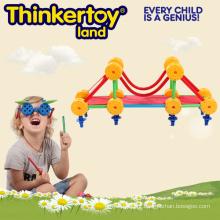 Crianças de educação pré-escolar de plástico aprendendo brinquedo