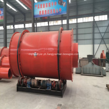 Secador de tambor rotativo de três passagens para carvão de areia