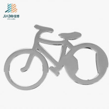 Custom Stainless Steel Bicycle Shape Promotional Gift Metal Bottle Opener