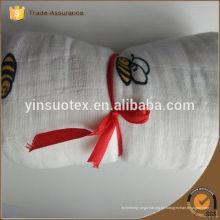 Las mantas 100% de la muselina del bebé del algodón de la venta caliente venden al por mayor