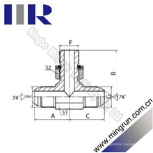 Jic Male / Bsp O-Ring Abzweig Hydraulischer T-Adapter (AJGJ-OG)