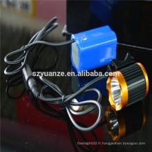 Lumière vélo, éclairage à vélo, lampe torche batterie rechargeable