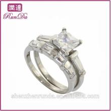 Joyería caliente de los anillos del acero inoxidable del diamante de la calidad de la venta de China
