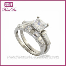 China hot sale fine quality diamond stainless steel rings jewelry