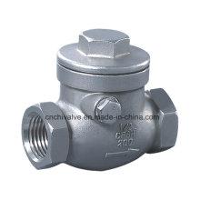 H14 Válvula de retención de rosca de acero inoxidable