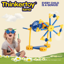 Windmill Machinery Operation by Gear Construction Toy for Boy