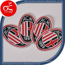Badge tissé fait sur commande de football / football tissé