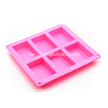 Hot Sale Silicone 6 Cavity Tvål