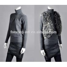 NUEVA moda suéter de cachemir de doble cuello alto pecho