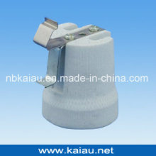 E27F519E Suporte de lâmpada de porcelana