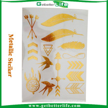 Hot Sale Gold Leaf Tattoo Sticker for Sale