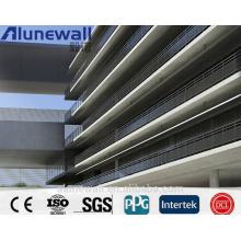 Panneau composé en aluminium antibactérien de largeur de 2 mètres d'Alunewall pour l'usage de mur d'hôpital