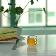 2 oz Petite tasse à thé haute en borosilicate