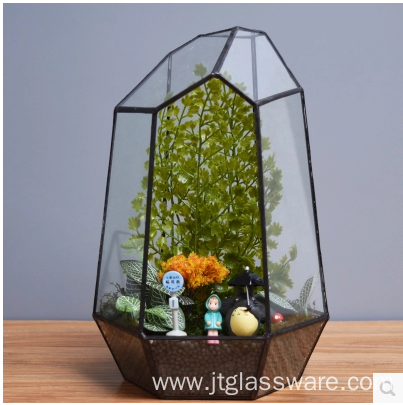 Glass Vases Clear Terrarium Glass Geometric