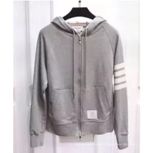 Thin Cotton High Quality Wholesale Zipper Plain Hoodie for Men