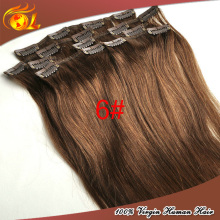 Wholesale price can be choose fashion light color brazilian clip in hair
