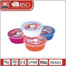 Comida de microondas redondo Container(2.55L) produtos plásticos