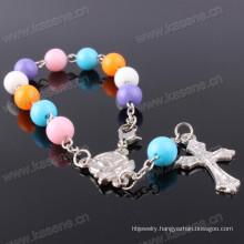 8mm Christian Multi-Colored Glass Rosary Chaplet