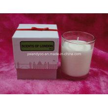 Черника роскошная ароматическая свеча с подарочной коробке упаковки